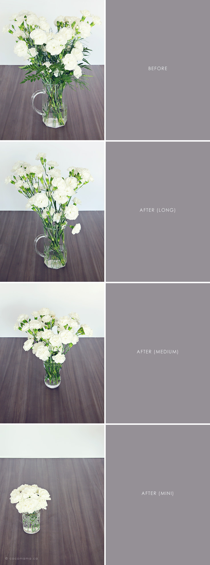 Carnation bouquet makeover